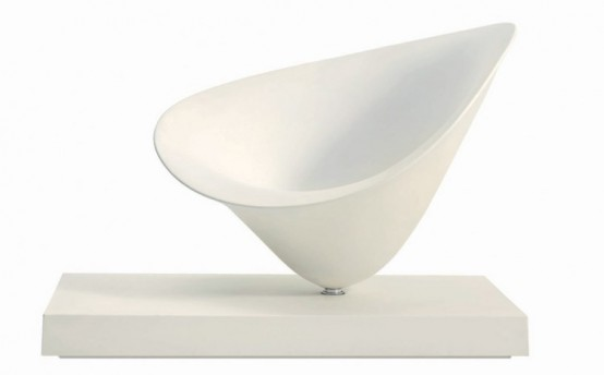 Moor Driade White Chair by Philippe Starck