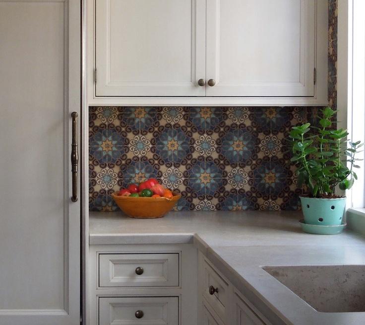 Boho Kitchen Tile Backsplash