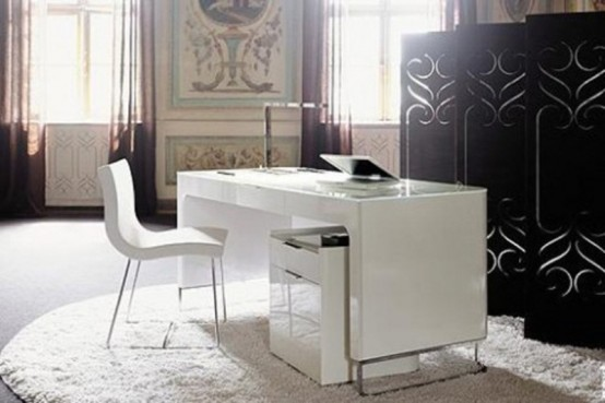 white home office desk. Most Stylish Minimalist Home Offices White Office Desk R