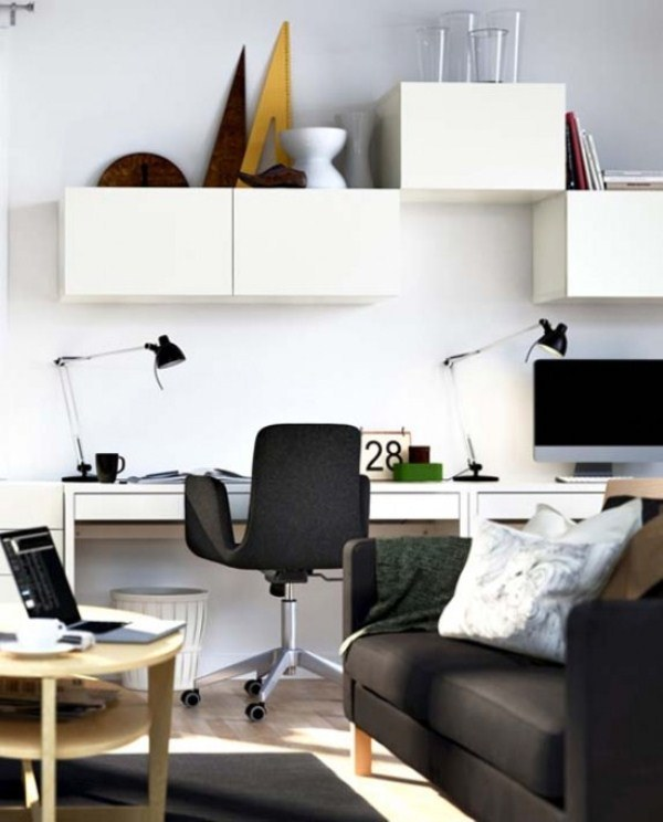 20 Inspiring Home Office Design Ideas For Small Spaces: 34 Most Stylish Minimalist Home Offices You'll Ever See