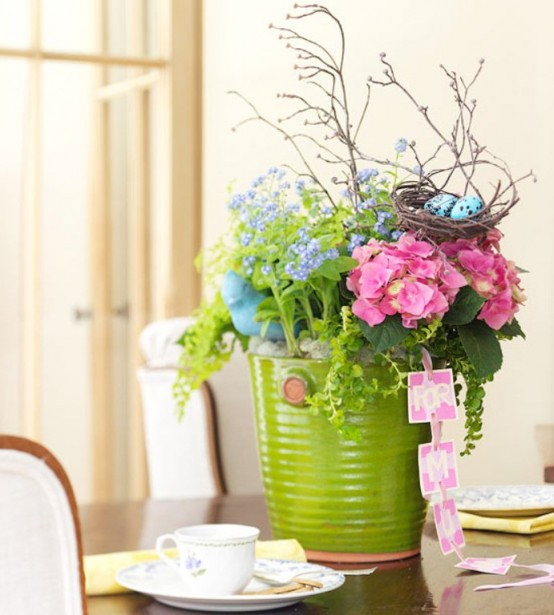 awesome bathroom flower decorations | 16 Awesome Mother's Day Flower Decoration Ideas - DigsDigs
