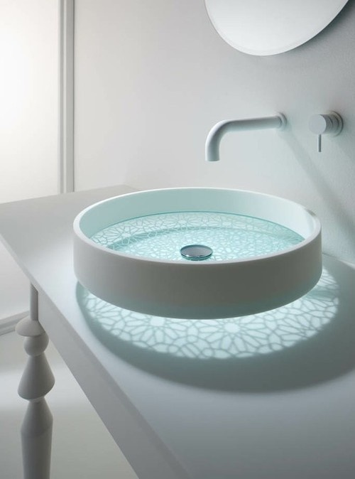 Creative Motif Basins With Delicate Patterns By Omvivo