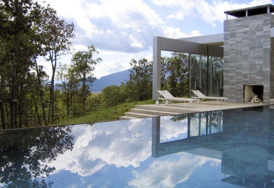 mountain glass house