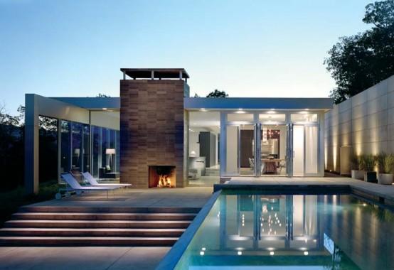 mountain glass house