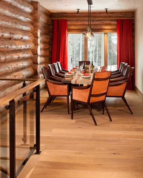 Mountain Lodge With Rustic And Modern Details