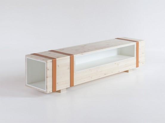 Multi Purpose Calibro Unit For Storage And Seating