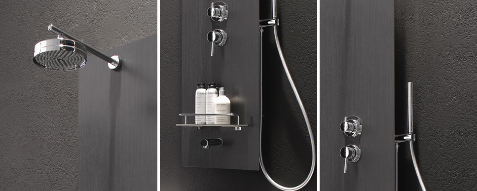 Multifunction Dark Grey Shower Panel