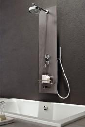 Multifunctional Dark Grey Shower Panel