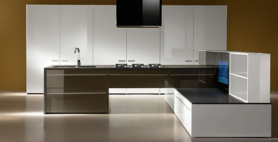 Multimedia Kitchen For Open Plan Areas