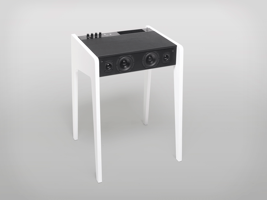 Compact Multimedia Laptop Desk With Built-In Speakers System
