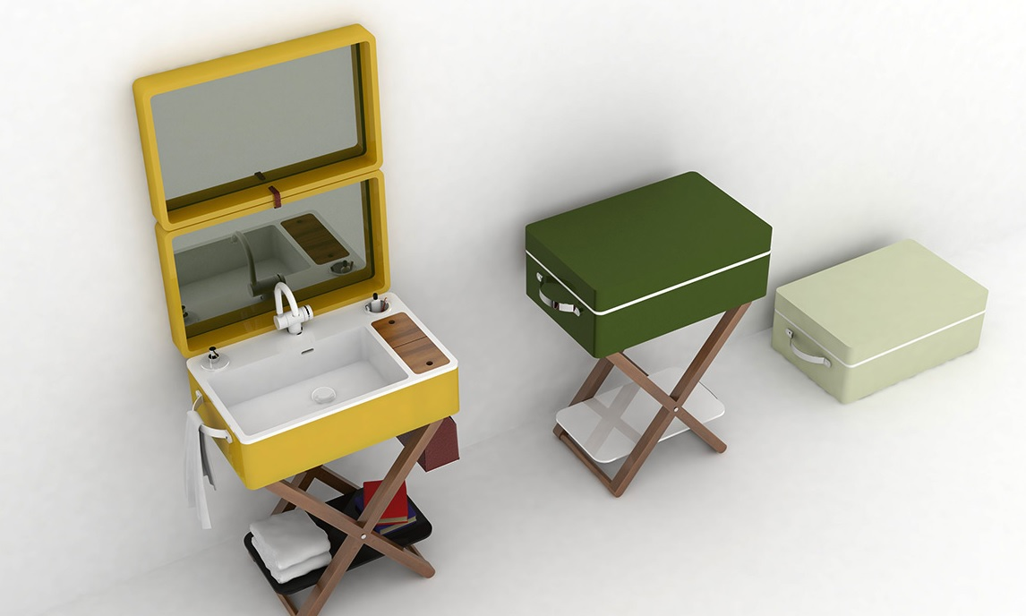 My bag washbasin that turns into a portable case 3