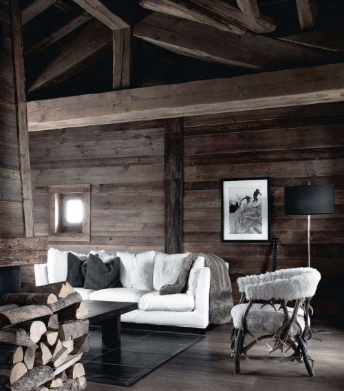 35 natural chalet living room designs digsdigs for Natural living room design ideas