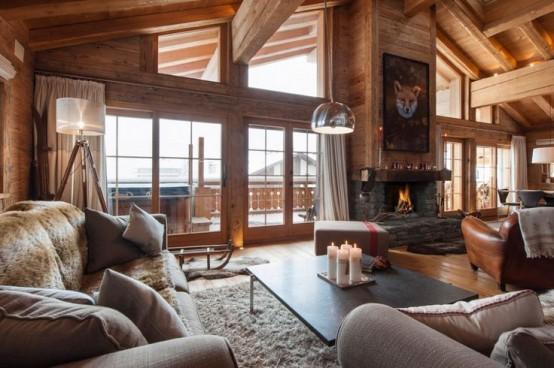 Natural Chalet Living Room Designs Digsdigs