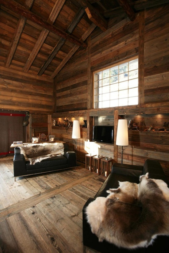 35 natural chalet living room designs digsdigs - Interieur chalet montagne photo ...