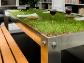 Natural Grass Dining Table For A Big City Picnic