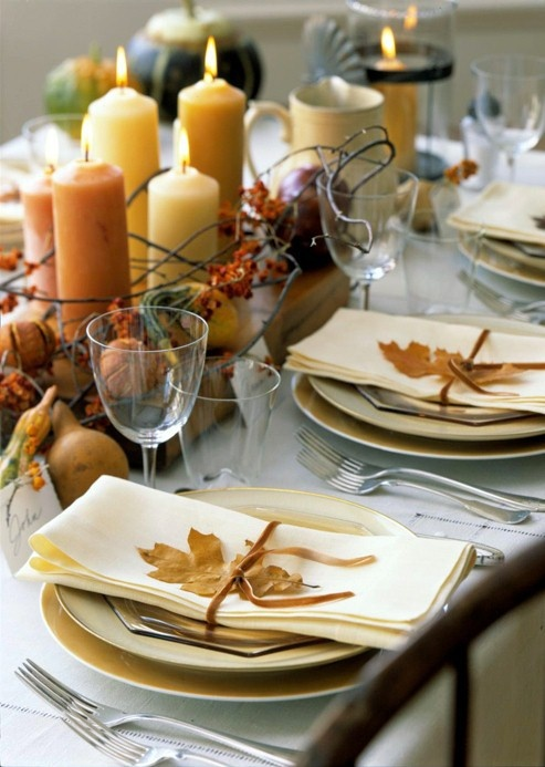 Natural Thanksgiving Table Settings & 34 Natural Thanksgiving Table Settings - DigsDigs