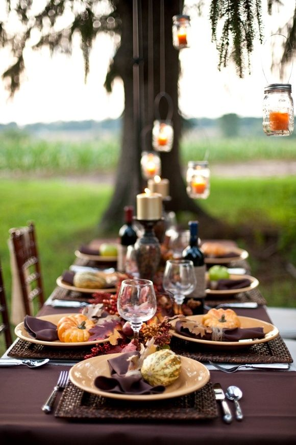 faux pumpkins, fall leaves, berries are great for styling your tablescape for fall or Thanksgiving