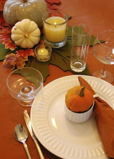 Natural Thanksgiving Table Settings