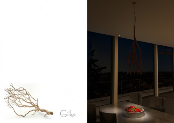 Nature Inspired Lighting Organic Gilka Pendant Lamp