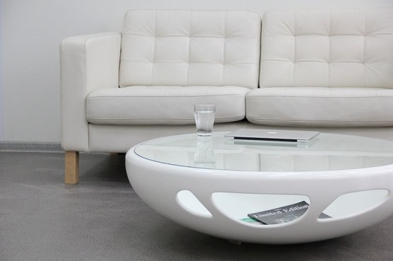 Nature Inspired Pebble Table For Indoors And Outdoors