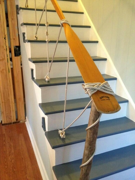 20 nautical inspired staircases for beach homes and not only digsdigs. Black Bedroom Furniture Sets. Home Design Ideas