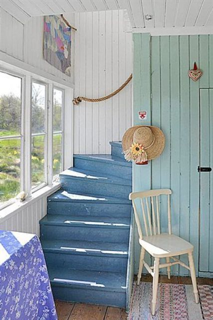 20 Nautical Inspired Staircases For Beach Homes And Not Only Digsdigs