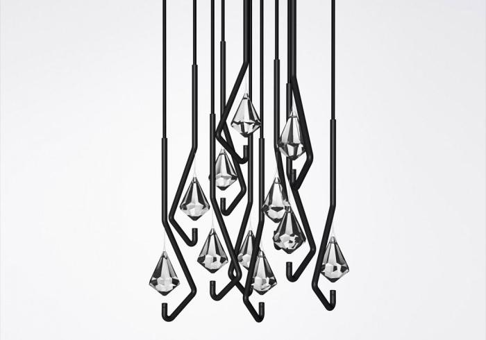 Minimalist Crystal Chandelier In Neomodern Style