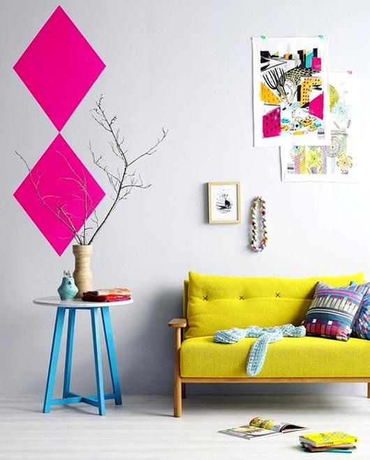 Nhà bừng sáng với nội thất rực rỡ sắc màu (1)
