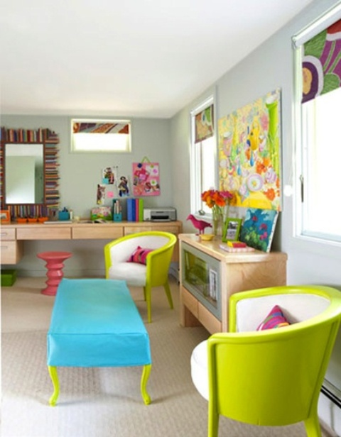 Nhà bừng sáng với nội thất rực rỡ sắc màu (25)