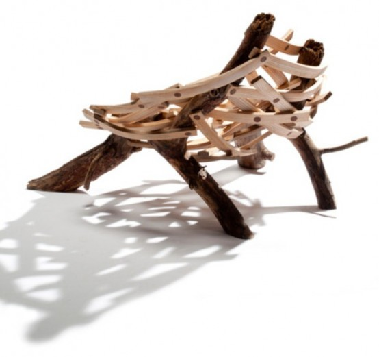 Nest Shaped Chair Of Rough Wood