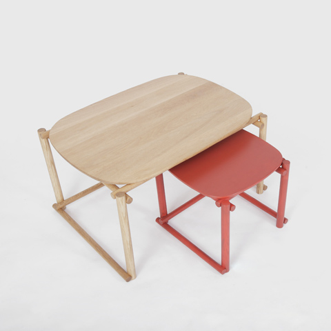 Simple Nesting Tables With The Interlocking Wooden Bars – Aina by Foundry