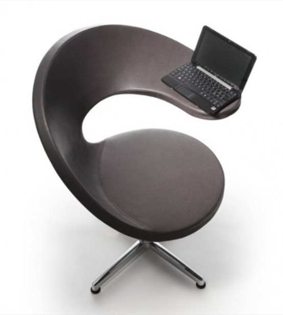 Netbook Lounge Armchair Of @ Shape