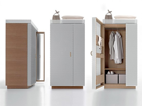 Furniture Line With Painted Metal Mesh Doors – Net-Box by Molteni
