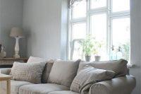 neutral-colored IKEA Ektorp slipcover