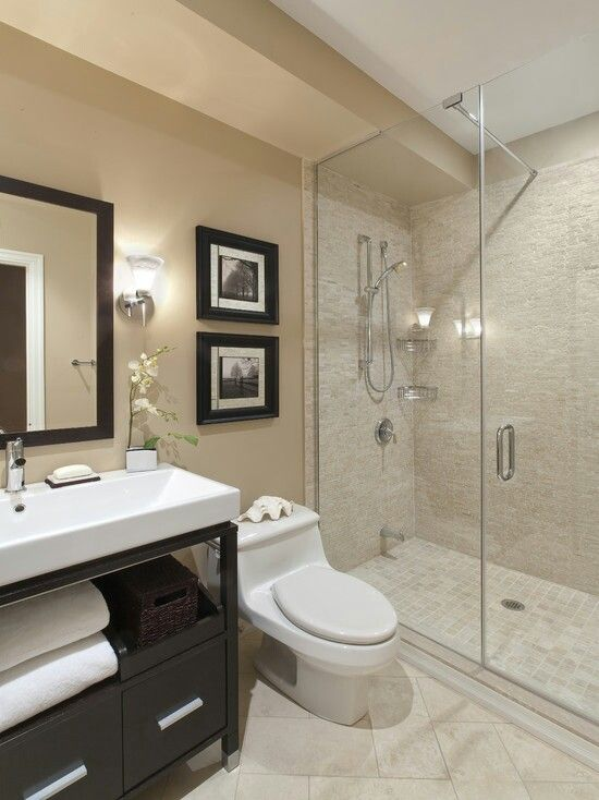 Basement Bathroom Ideas neutral colors works here aswell