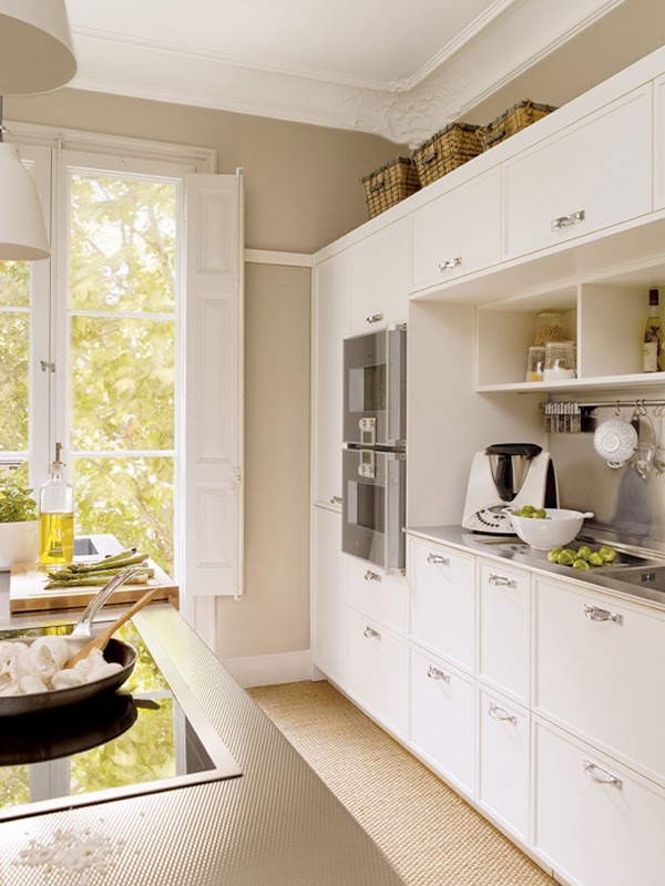 neutral kitchen design in colors and materials