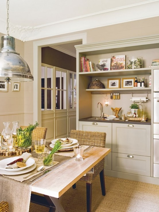 Neutral Kitchen Design In Natural Colors And Materials