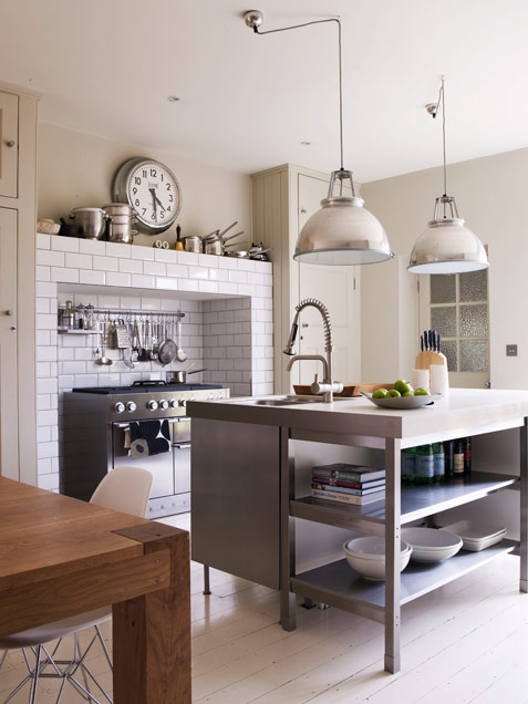 Neutral Kitchen In Insdustrial Style