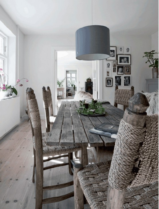 Neutral Rustic Danish House With Flea Market Finds