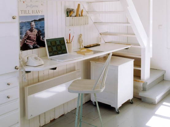 Neutral Under Stairs Home Office