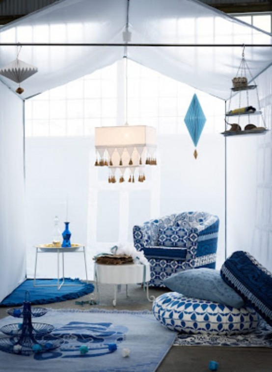 New Ikea Collection In Dark And Light Blue