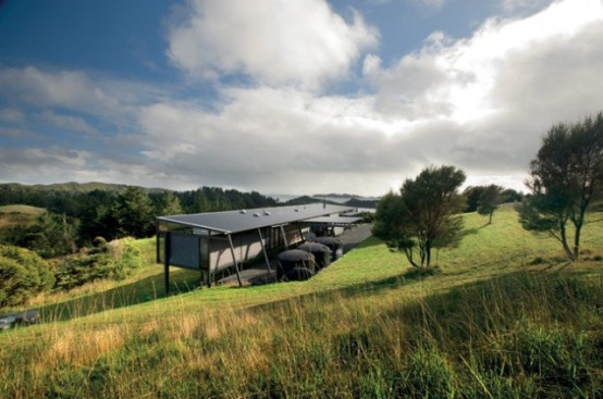 Stunning New Zealand Glass House With Minimalist Interiors Digsdigs