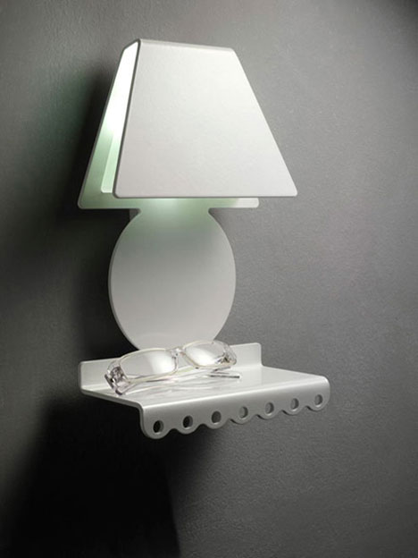 Shade Lamp Combined with Support Table – Sognibelli from Zeroombra