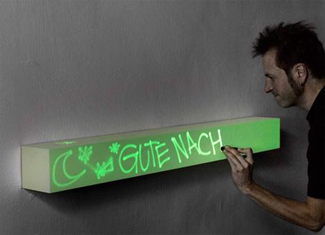 Interactive Shelf Scratchboards by Peter Freund