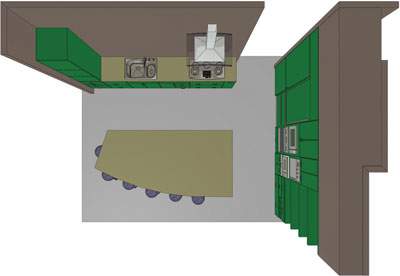 Floor plan for Large Kitchens Winner