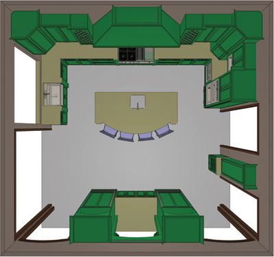 Floor plan for Large Kitchens Third Place