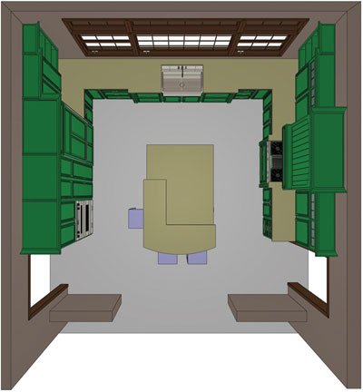 Floor plan of honorable mentioned large kitchen