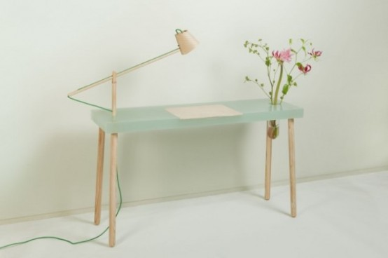 No1 Writing Table With A Lamp A Desk And A Storage Space