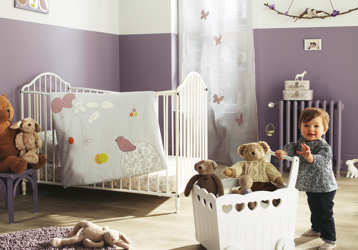 11 cool baby nursery design ideas from vertbaudet digsdigs Infant girl room ideas