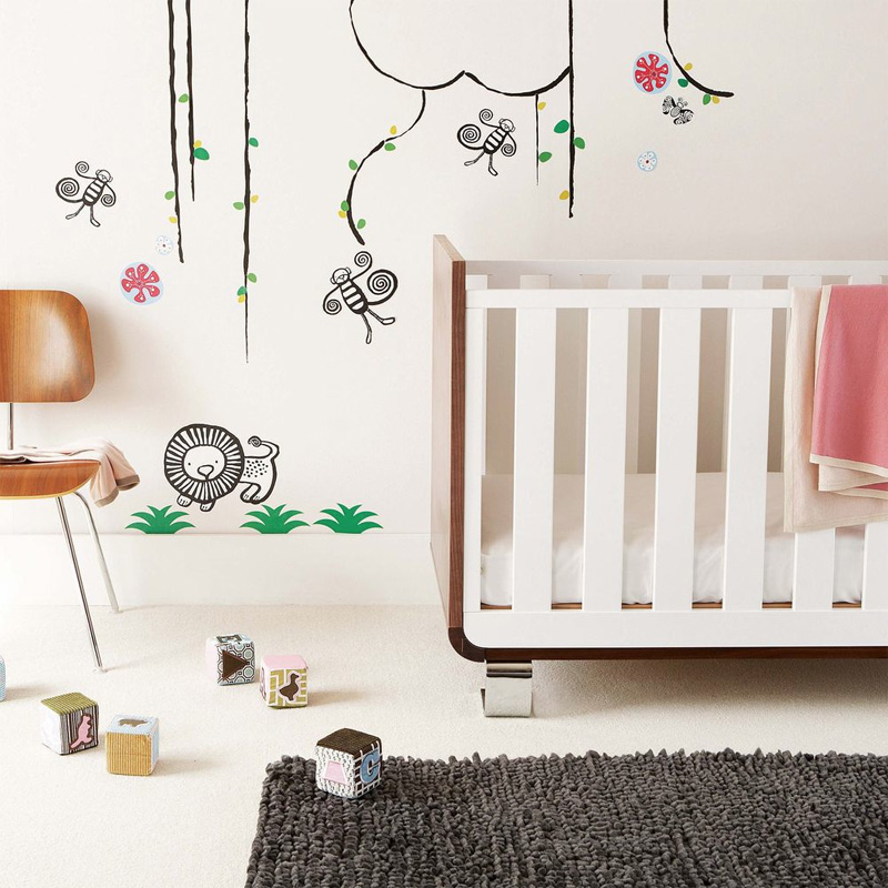 Cool wall stickers to complete kids room decor digsdigs for Baby nursery wall decoration